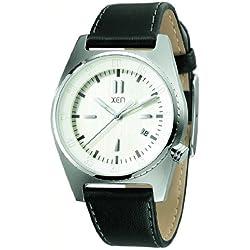 XEN Armbanduhr mit antiallergenem Lederband in schwarz XQ0221