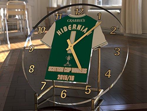 MyShirt123 HIBERNIAN FC FOOTBALL CLUB - WILLIAM HILL SCOTTISH CUP WINNERS 2015 16 COMMEMORATIVE DESKTOP CLOCK - SCOTTISH CUP WINNERS