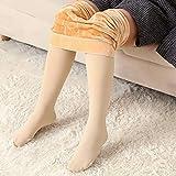 100KG Plus Size Frauen Leggings Strumpfhosen, schlanker Taille/Bauch in/Hüfthöhe/hohe Stretch/kältebeständig und Samt, Winter Damen warme Hosen,80KG
