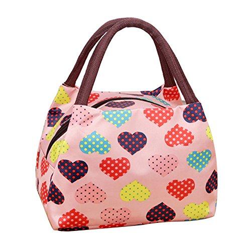 Znvmi Sac Repas Pliable Lunch Bag Portable Sac à Déjeuner Isotherme Femme Fourre-Tout pour Voyage Pique-Nique Camping Sport