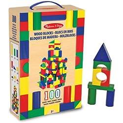 Melissa & Doug - 100 bloques de madera