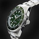 """Gigandet Herren Automatik-Armbanduhr """"Sea Ground"""" Analog Edelstahlarmband Grün Silber G2-008 - 5"""