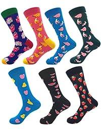4738ccca4d8 YoungSoul Chaussettes fantaisie homme et femme - Chaussettes rigolote  chaussette en coton peigné à motifs colorées