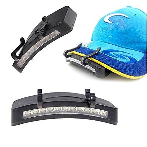 Clip lumière 11LED ultra lumineuse chapeau randonnée pêche camping camping nuit