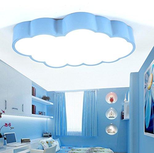 Lámparas de techo, luces de la habitación de los niños luces del dormitorio llevó la luz de techo simple chica moderna sala Creative lámparas de control remoto 55 * 35 * 8 cm ( Color : #4 )
