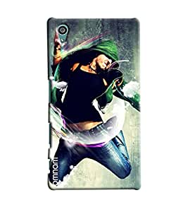 Omnam Boy Doing Free Style Dance Printed Designer Back Cover Case For Sony Xperia Z5
