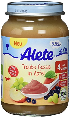 Alete Traube-Cassis in Apfel, 6er Pack (6 x 190 g)