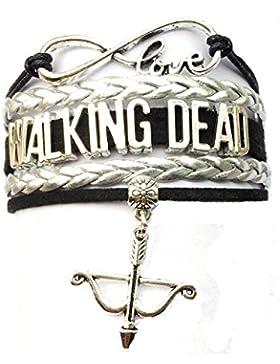 Mehrschichtige Pelzmantel The Walking Dead TV Charm Armband Armbrust -19 Farben