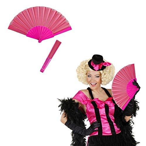 NET TOYS Abanico Ventalle español Flamenco Rosa Flabelo Bailarina Abano Veraniego Ventalle japonés Soplillo de Mano