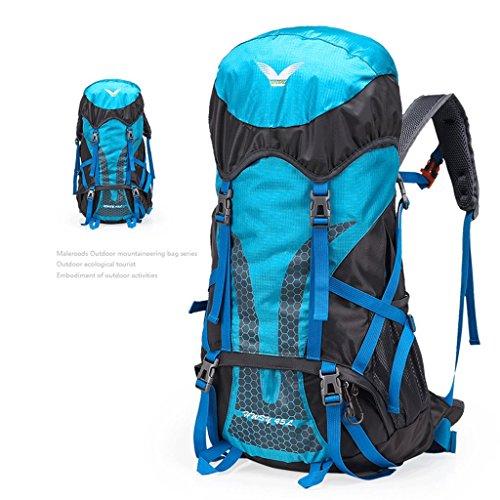 Die neuen Outdoor-Camping-Rucksack Bergsteigen Taschen Professionelle ultraleichte wasserdichte Tasche Reiten Blau