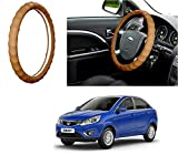 #4: Auto Pearl - Adinox Premium Quality Ring Type Car Steering Wheel Cover (Gold Full Beige) For -Tata Zest