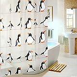Generic Lovely Pinguin Muster Bathroon Vorhang für die Dusche, Weiß, 180*180cm