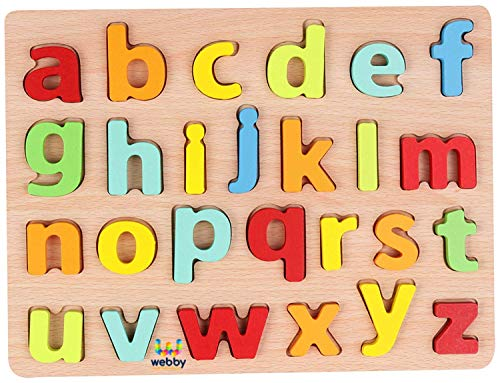 Webby Wooden Small Alphabets Letters Learning Educational Tray Toy for Kids