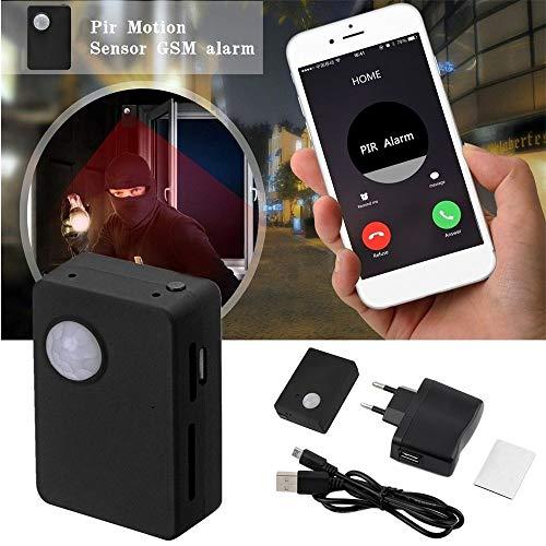 Erduo Mini-Ausrüstung und leichte langlebige Infrarot GSM MMS & Anruf Alarm Quad-Band-Sensor mit Kamera Mic Tracker x9009 - schwarz Band Gsm