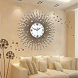 Modernen minimalistischen Stil Wohnzimmer und kreative Mode Wand Uhr Schlafzimmer ruhig Quarz Uhr 60 * 60cm