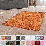 Taracarpet Hochflor Langflor Shaggy Teppich geeignet für Wohnzimmer Kinderzimmer und Schlafzimmer flauschig und pflegeleicht Pastell Taupe 120x120 cm rund