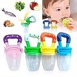 Hosaire Baby Schnuller Lebensmittel Silikon Schnuller Baby Beruhigungssauger,Babys und Kleinkinder durch Fruchtsauger mit Gemüse und Obst fördern(gelb) -