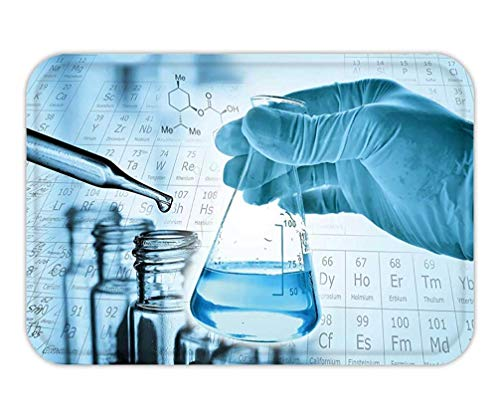 Trsdshorts Doormat Flask in Scientist Hand with Test Tube in Rack_