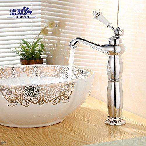 QH Faucet Badewannenarmaturen Waschtischarmaturen Waschraumarmaturen Galvanik heiß und Kalt Wasser Sprinkler Shop Kupfer Wasserhahn Wasserhähne