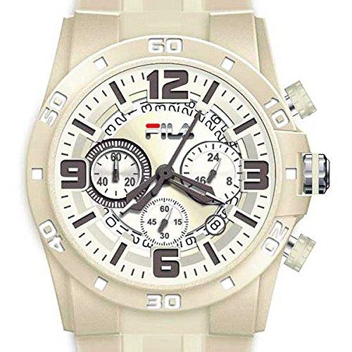 Fila FA1033-02 - Reloj con correa de caucho y aero para hombre, color beige/gris