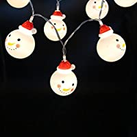Feicuan LED Christmas Snowman stringa fata luce Battery Powered Lighting per X-mas Garden Patio Outdoor Decor -2M