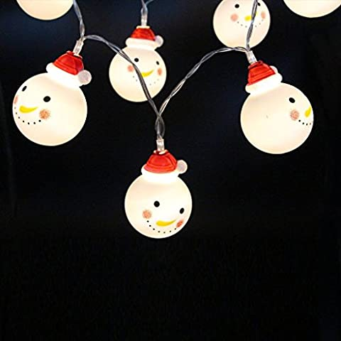 Feicuan LED Christmas Snowman String Lumières Battery Powered Lumièresing pour X-mas Garden Patio Outdoor Decor -3M