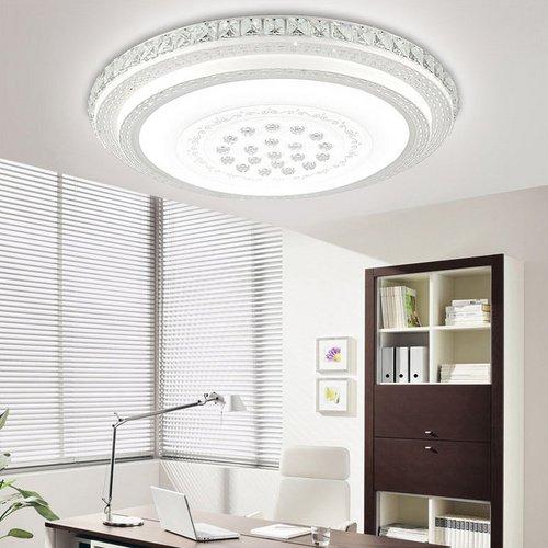 VINGO® LED kristall Deckenbeleuchtung deckenleuchte 36w Weiss Rund Abstrahlwinkel 120° Esszimmer Starlight-Design