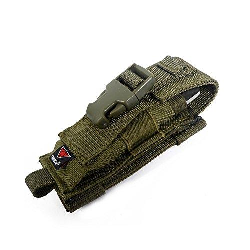 Yakeda® C88044-1 Gürtelhalterung für Klappmesser, Nylon-Scheide, zweifaches Tragen/Ausrüstungszubehör, Gürtel-Messertasche, grün (Tool Pouch Maxpedition)