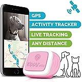 Kippy Vita - Localizador GPS para Perros y Gatos con Monitor de Actividad - Pink Angel