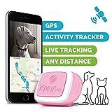 Kippy Vita–GPS Tracker und Activity Tracker Monitor für Haustiere–GPS Locator für Hunde und Katzen–Pink Angel