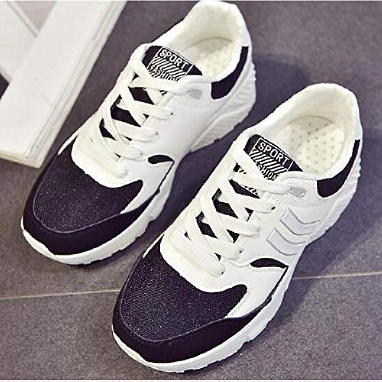 ZHZNVX Chaussures Femme Mesh Mesh Mesh Printemps/Eté Confort Baskets à Talon Plat Bout Fermé Noir/Bleu / RoseB07H2YD346Parent 240703