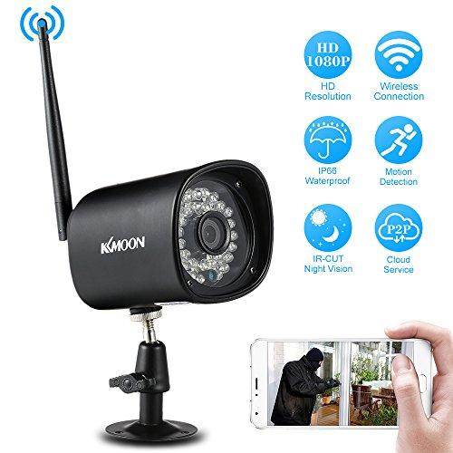kkmoon 720P HD Bullet Kamera IP Wireless WiFi 1.0MP 1/4Inch CMOS 4mm Ziel 36Stück IR LEDs unterstützt ONVIF Nachtsicht, Bewegungserkennung Telefon App Kontrolle
