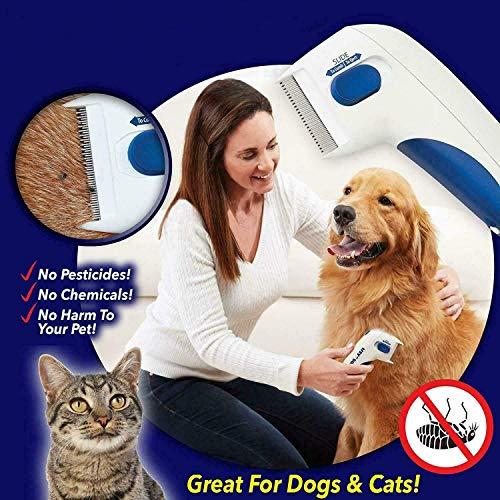 LIKE Flea Doctor Elektronischer Flohkamm wie im Fernsehen gesehen, perfekt für Hunde und Katzen, tötet und stöhnt Flöhe
