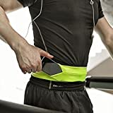 SZPLUS Unisex Flexible Belt / Bum-Bag for for Running - Perfect for Exercise, Fitness, Training, Sport, Gym, Carrying Money and Telephone, with Keyring and Pockets verde-XL