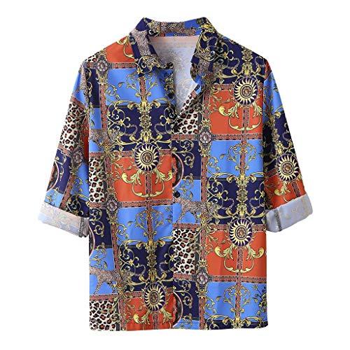 Committede Retro Hawaiihemd Herren Sommer Fashion Funky Casual Kragen Kurzarm Aloha Freizeit Hemd Button Down Graphic Hemden Strand Shirts Kurzarm Urlaub Reise Shirt Strand Hemd -