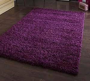 Épais Violet Épaisseur et Cormoran 5cm souple Shaggy Tapis épais dense en lots de différentes tailles 160x 220cm