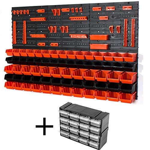 72 tlg Wandregal Steckregal In Box Gr.1, 2 orange schwarz Regal Werkstatt Halter