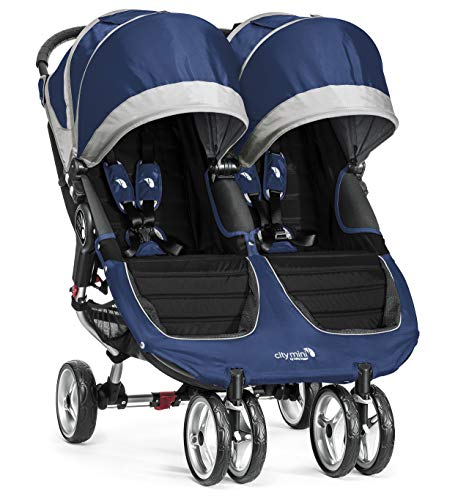 Baby Jogger City Mini Kinderwagen, doppelt, kobalt/grau - Double Jogger Mini City
