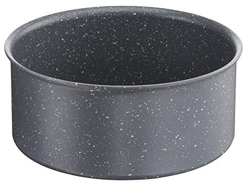 Lagostina ingenio induction, casseruola, fonda alluminio antiaderente, effetto pietra, 20 cm