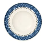 Villeroy & Boch Casale Blu Pastateller, 30 cm, Premium Porzellan, Weiß/Blau