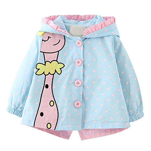 Baby Mädchen Frühling & Herbst Jacken Kinder Prinzessin outwear Mantel mit Kapuze Karikatur-Giraffe - Kapuzen Baby Mädchen Jacke