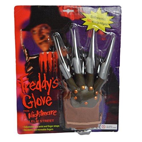 Krueger Kostüm Freddy Jungen (Freddy Krueger Deluxe-handschuh Halloween Kostüm Zubehör Für)