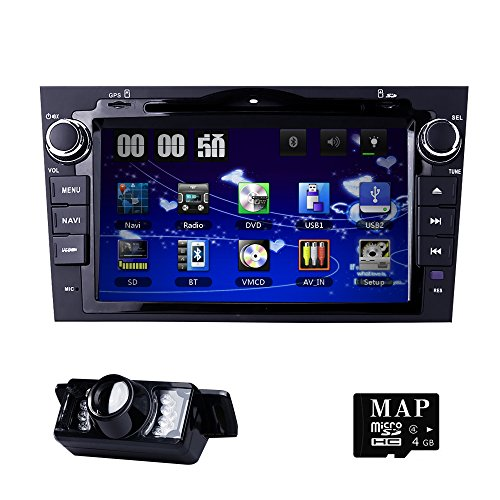 8 inch Digital Touch Screen Car Radio 2Din Stereo in Dash for Honda CRV C-RV Support GPS Navigation Bluetooth DVD CD Player RDS Radio Steering Wheel Control USB Subwoofer AUX CAM-IN (In Dash Dvd-player Bluetooth)