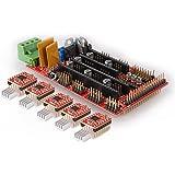 Kuman 3D Printer Controller kit for arduino RAMPS 1.4 Controller Board + 5pcs A4988 Stepstick Driver Module with Heat Sink for RepRap KY57