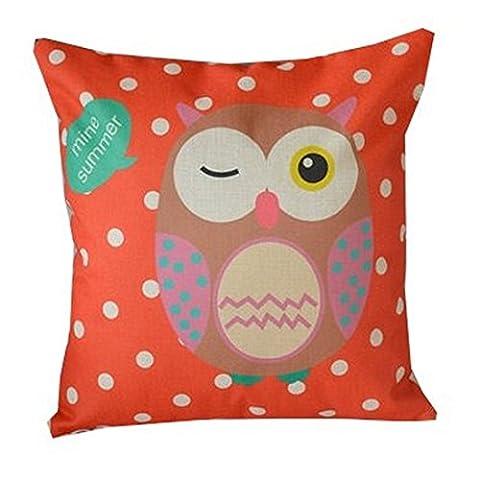 Lovelife' - Home Decorative Owl Design Style Digital Print Square