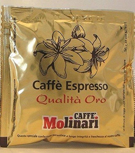 Espresso Molinari Caffe Oro Pads, Espresso Pads, Servings, Tabs 150 Stück je 7 g