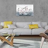 DekoShop Glasbild Echtglas Glasfoto Wandbild Magnolie AMDGT10163G3 G3 (60cm. x 40cm.) Real Glass Picture Print | Natur Blume Blumen Magnolie Wasser Eleganz Weiss