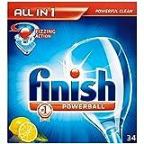 Terminer All in 1 Powerball Lave-vaisselle comprimés Lemon (34) - Paquet de 6