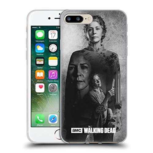 Offizielle AMC The Walking Dead Daryl Doppelte Aussetzung Soft Gel Hülle für Apple iPhone 5 / 5s / SE Carol