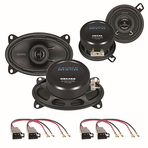 Lautsprecher Set für VW Polo 86C sowie Golf 2 mit CRUNCH DSX32 und DSX462 2 Wege Koaxial Lautsprechersysteme für das Armaturenbrett sowie die seitliche Heckablage